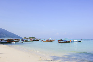 Longtail boat for visit beautiful beach of Koh Lipe, Thailand
