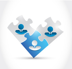 business people puzzle pieces