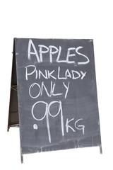 Sandwich board advertising