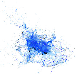 Abstract blue water splash