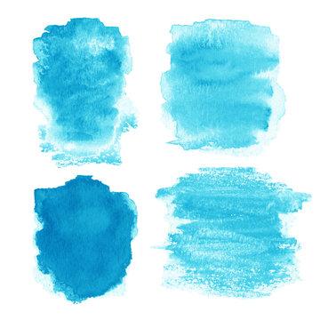 Beautiful watercolor design elements for design. Watercolor stai