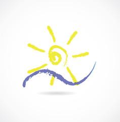 sun sea icon