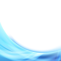 Bright blue wave glowing border background