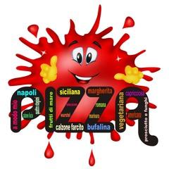 pizza al pomodoro cartoon