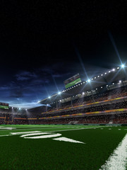 American football stadium before match
