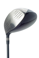 Golf club on white background
