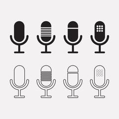 Microphone vector icon design