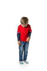 Child standing crying