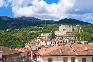 Panoramic view of Brienza. Basilicata. Italy.