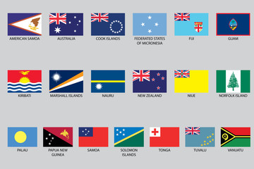 Set of Infographic Elements for the Country of Oceania