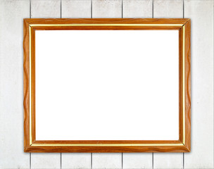 blank wood frame on wood wall