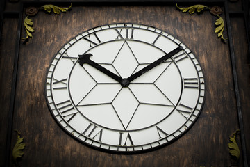 Vintage background with old clock