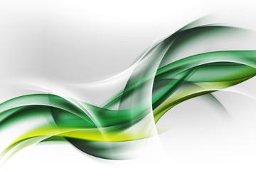 Obraz abstrakcyjne zielone fale - fototapety do salonu