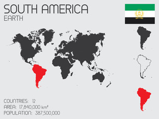 Set of Infographic Elements for the Country of South America