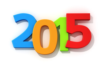 Multicolored 2015 year