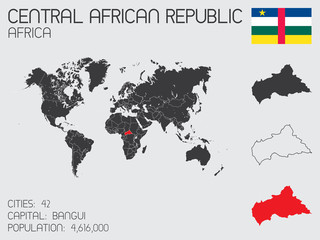 Set of Infographic Elements for the Country of Central African R