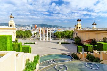 View in Barcelona on Placa De Espanya( Square of Spain),Spain.