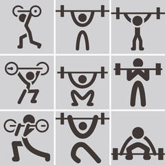 Weightlifting icons