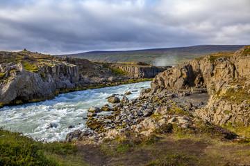 Landscape near Godafoss warerfall in Iceland2