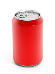 Red soda can
