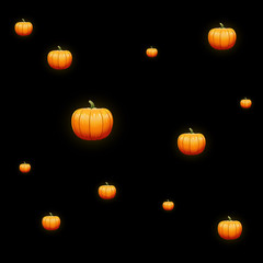 Pumpkin halloween pattern vector