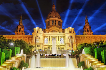 The National Palace in   Barcelona.Spain.