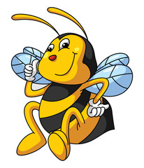 Bee Funny Cartoon