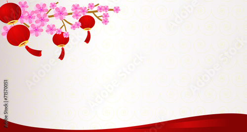 Traditional Chinese Lanterns Background