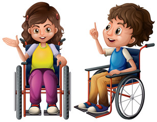 Children and wheelchair