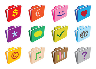 Folder with icons
