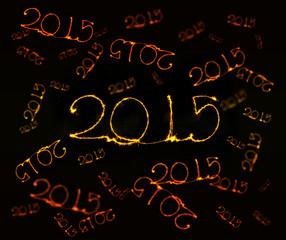Happy New Year - 2015 sparkler