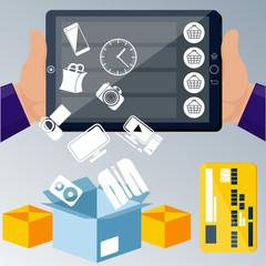 Online ecommerce technology concept internet shopping