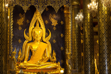 Phra Buddha Chinnarat is the most beautiful and the large bronze