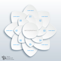 Infographics Vector Background 8-Step Process #Flower
