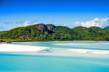 Wonderful beach of Queensland, aerial view