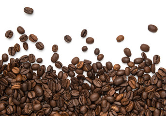 Coffee beans fresh roasted