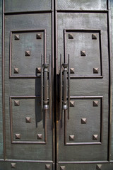 cairate abstract   a  door curch  closed wood italy  lombardy