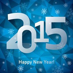 2015. Happy New Year, Christmas cards, snowflakes, crystals