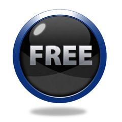 free circular icon on white background