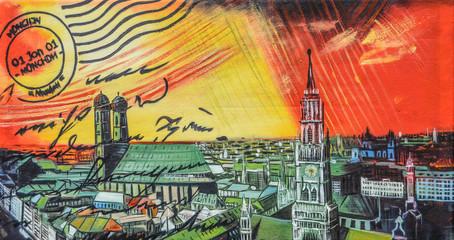 München Gemälde Malerei abstrakt Kunst