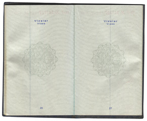 Pages for visa marks in the Turkish passport