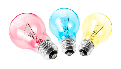 Multicolor electrical light bulb group