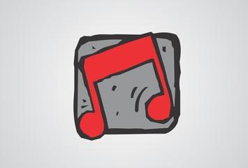 music, cartoon, melody, logo, simbol, audio