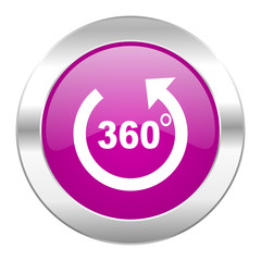 panorama violet circle chrome web icon isolated