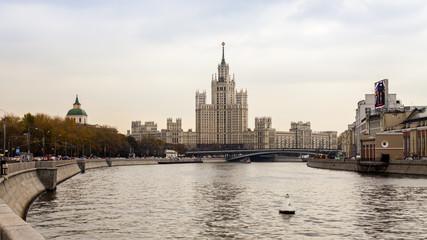 Moscow, Russiaa house on Kotelnicheskaya Embankment