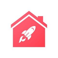 House icon with a rocket