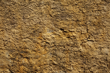 Stone wall yellow in small cracks