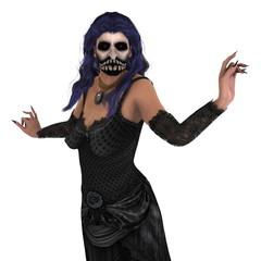 ホラーマスクの女性