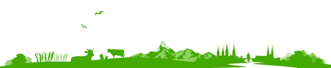 Papiers peints Blanc Skyline Schweiz
