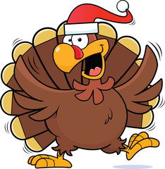 Cartoon Christmas Turkey
